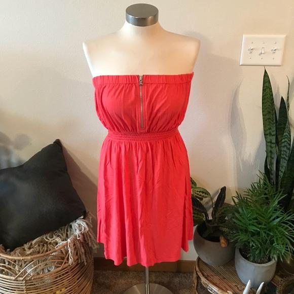 GAP Dresses & Skirts - Coral strapless zipper dress